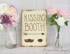 Rustic Kissing Booth Sign Barn Country Wedding Decor Photo Booth Photography Prop  (Item Number 130010) on Etsy, $42.50