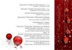 Weihnachtsgala Menü am 24. Dezember 2015   Hackl-Gastro Cranberries, Restaurant, Vegetables, Food, Porcini Mushrooms, December, Creative Ideas, Easy Meals, Diner Restaurant