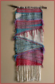 Hand woven Saori wall hanging by Lelkessen on Etsy, $132.25