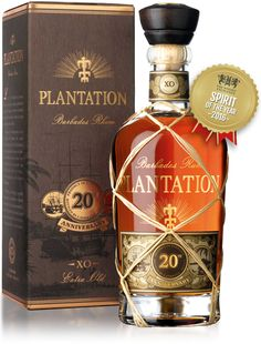 Plantation Anniversary Extra Old Barbados Rum. Aged in bourbon barrels and finished in cognac casks, this rum earned a score of 94 points from the Beverage Testing Institute. Vodka, Tequila, Alcohol Spirits, Wine And Spirits, Alcohol Bottles, Liquor Bottles, Rhum Xo, Barbados Rum, Sodas