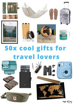 Looking for a special gift for someone who loves to travel? Here's a list of 50x cool gifts for travel lovers! #travelgifts #christmas #mapofjoy