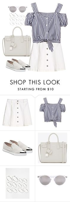 """Untitled#4150"" by fashionnfacts ❤ liked on Polyvore featuring H&M, Miu Miu, Yves Saint Laurent, ASOS and Wildfox"