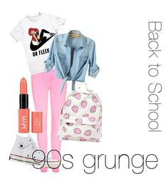"""Back to school - 1990"" by asseenon-tv ❤ liked on Polyvore"