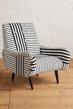 Striped Losange Chair #anthropologie