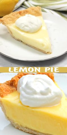Sour Cream Lemon Pie…magnificent, smooth, creamy, light and refreshing. Oh yeah, this was amazing! Lemon Dessert Recipes, Lemon Recipes, Cream Recipes, Easy Desserts, Delicious Desserts, Cake Recipes, Yummy Food, Recipes Using Sour Cream, Amish Recipes