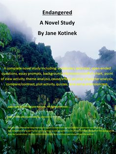 This 89-page novel study includes: * open-ended questions for the entire book *vocabulary list *quizzes *comprehension test *language arts activities ***vocabulary worksheets and crossword puzzle, theme analysis, cause and effect activity, internal/external conflict chart activity, mood vs. tone activity, essay prompts, plot diagram with essay, point of view activity, character analysis essay, and a Venn diagram with essay. $