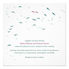 Summer Flying Gulls Lovely Modern Wedding Invite Shoppinglowest price Fast Shipping and save your money Now! Bridal Shower Invitation Wording, Nautical Wedding Invitations, Affordable Wedding Invitations, Beautiful Wedding Invitations, Wedding Invitation Design, Zazzle Invitations, Invitation Envelopes, Invites, Wedding Planner