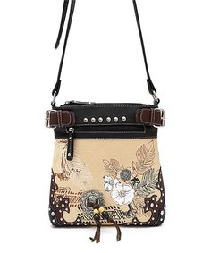 Look at this Cowgirl Trendy Black Floral Crossbody Bag on #zulily today!