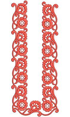 10956 Mens Neck Embroidery Design