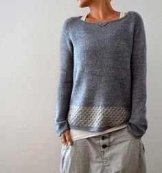 Knitting instructions Llevant by Isabell Kraemer - crochet patterns Sweater Knitting Patterns, Knit Patterns, Knitting Stitches, Knitting Needles, Knitting Sweaters, Pulls, Knitting Projects, Knitting Ideas, Knitwear