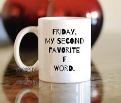Custom Coffee Mug Lettered Mug Funny Gift Mugs by ACupOfCustom