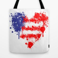 American Heart Tote Bag by Trinity Bennett - $22.00