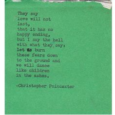 The Universe and Her, and I poem 10 - Christopher Poindexter