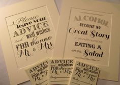 Rustic Wedding Signs-2 Matching Ivory Matted Signs-Great for any wedding theme!