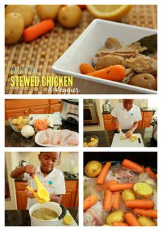 Stewed chicken and veggies fast and easy slow cooker recipe! from @stepstoolchef