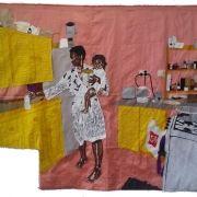 ma vie en rose, silk tapestry, 110x135cm