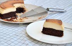 Κέικ σοκολάτας με κρέμα καραμελέ (VIDEO) - cretangastronomy.gr Cheesecake, Pie, Pudding, Chocolate, Baking, Desserts, Food, Torte, Tailgate Desserts