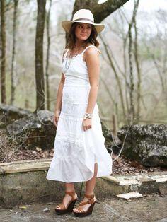 Altar'd State White Garden Dress