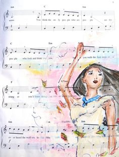 pocahontas: music manuscript by cattybonbon on deviantART