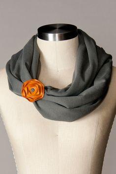 scarf cuff YUM. Cotton Infinity Scarf - Charcoal