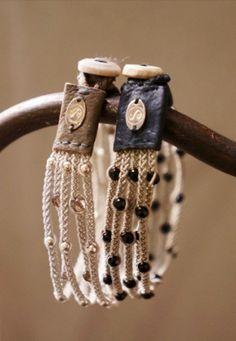 multi-strand crochet bracelet ❥Teresa Restegui http://www.pinterest.com/teretegui/ ❥