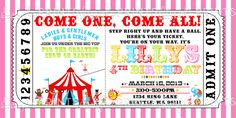 Circus Birthday Party Invitations | Rating Rate… Perfect Good Average Not that bad Very Poor