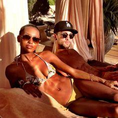 Jasmine Tookes and Tobias Sorensen Black Woman White Man, Black And White Love, Black Is Beautiful, Black Women, Interacial Love, Interacial Couples, Dream Bodies, Jasmine Tookes, Bwwm