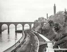 New York circa 1905. High Bridge aqueduct over Harlem River is reopening next week. http://www.shorpy.com/node/19707?utm_content=bufferf9280&utm_medium=social&utm_source=pinterest.com&utm_campaign=buffer