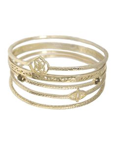 Jordana+14k+Gold-Plated+Stacking+Bracelets,+Set+of+5+by+Kendra+Scott+at+Neiman+Marcus+Last+Call.