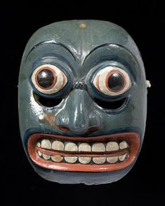 Sri Lankan tovil ritual mask representing the symptoms of illness
