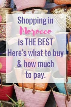 I won't lie, the thing I was most excited to do on my last trip? Shopping in Morocco. Before I went I hadn't researched what do buy in Morocco of what things would cost in Morocco. It would have also been helpful to know which city I would find things at better prices, SO I'm going to share what information I gathered over my 10 days shopping in Morocco.