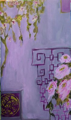 Asian Purple 2 - acrylic by ©Susan Brown / femmehesse (via Etsy)