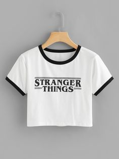 SheIn offers Letter Print Tee & more to fit your f. SheIn offers Letter Print Tee & more to fit your fashionable needs. Source by CEOOFWAIFUS - Teen Fashion Outfits, Outfits For Teens, Trendy Outfits, Cute Comfy Outfits, Cool Outfits, Mode Kawaii, Jugend Mode Outfits, Belly Shirts, Vetement Fashion