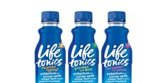 A nutritious beverage with a loud voice.  Life Tonics, developed by Neil  Taylor, creates visual authenticity through hand-drawn typography that is  both vibrant and natural.