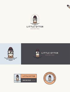 Logo for Little Otter Brewing by :: scott :: A flat playful design nominated for best line art in the 2017 99awards. #branding #brewery #design