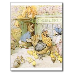 Another Beatrix Potter PC featuring: Peter Rabbit, Sally Henny Penny, Jemimah Puddleduck, Squirrel Nutkin, and others.