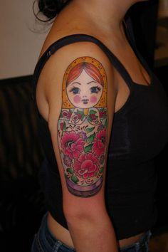 Nesting doll tattoo