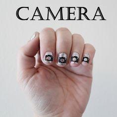 Camera Vinyl Nail Stickers x20 by stickitvinyl on Etsy, $1.99