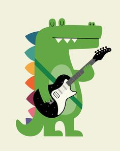 Croco Rock Art Print by Andy Westface | Society6