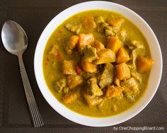 Super Spicy Pork Curry with Kabocha Squash | Serve with Minute White Rice. Simply delicious.