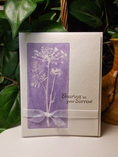 Rachel's Card Corner: Sympathy Cards Continued - Watercolor sympathy card - Meadow (Inkadinkado) Thoughts & Prayers