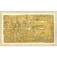 MAPA MURAL CUAUHTINCHÁN 2; lefthand side shows ritual pilgrimage made by leaders…