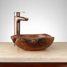 Newell Teak Root Vessel Sink