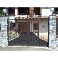 Wrought Iron Driveway Gate. Customize Realisations. 050 Wrought Iron Driveway Gates, Front Gates, Gate Design, Garage Doors, Outdoor Decor, Php, Instagram, Home Decor, House Ideas