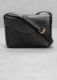 Small leather shoulder bag via &other stories