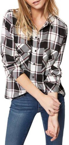 Women's Sanctuary Plaid Boyfriend Shirt  #affiliate