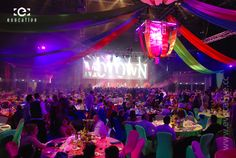 Magical Carnival theme at the Gold Coast Convention Centre for the Retravision Gala Dinner; with Human Nature performing Motown hits on the centre stage. #EventPhotography
