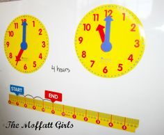 The Moffatt Girls: Magnetic Elapsed Time Set Review and GIVEAWAY!