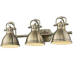 Classic Dome Shade Bath Light - 3 Light aged_brass