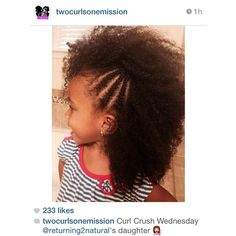 If i have a daughter, her hair will stay natural! Lil Girl Hairstyles, Natural Hairstyles For Kids, Princess Hairstyles, Black Children Hairstyles, Curly Hair Styles, Natural Hair Styles, Natural Mohawk, Girls Braids, Toddler Hair